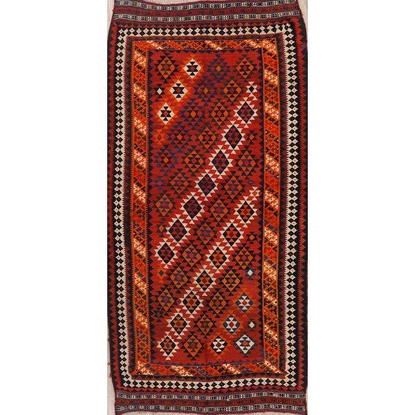Runner Encinas Southwestern Handmade Kilim Wool Red Area Rug