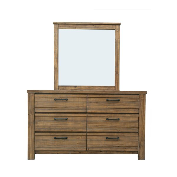 Hassler 6 Drawer Double Dresser with Mirror by Gracie Oaks