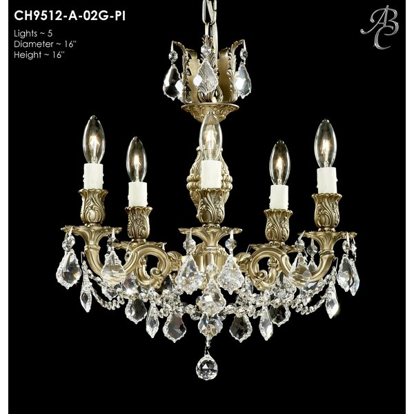 Soderberg 5 - Light Candle Style Classic / Traditional Chandelier by Astoria Grand Astoria Grand