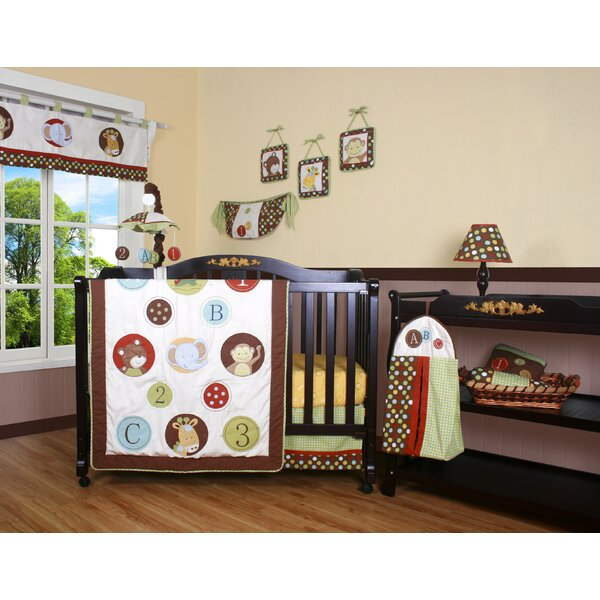 Boutique Animal Scholar 13 Piece Crib Bedding Set by Geenny