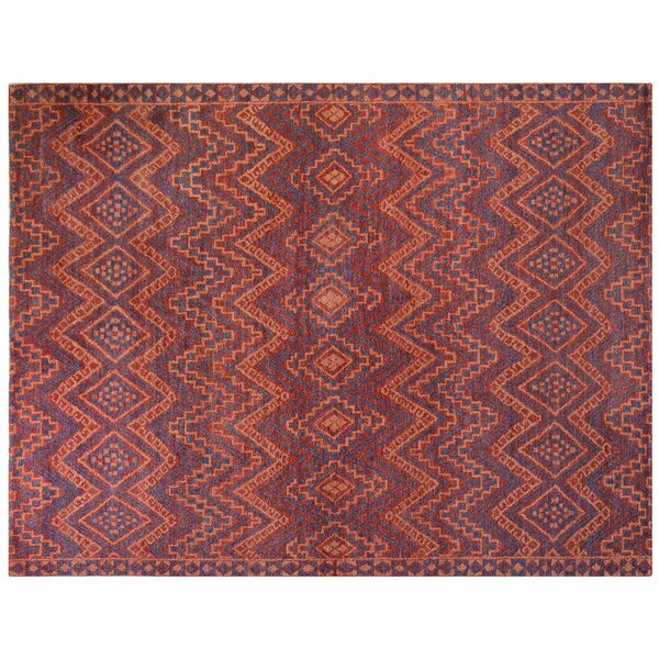 One-of-a-Kind Hand-Knotted Red 9' x 12' Wool Area Rug