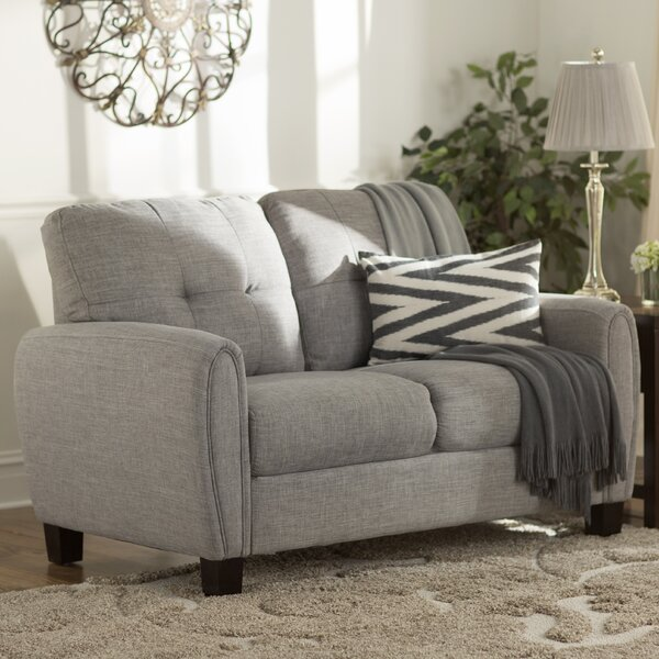 Derry Upholstered Loveseat by Three Posts