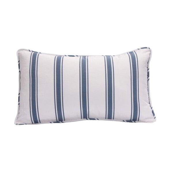 Beach House Cotton Lumbar Pillow by Harbor House