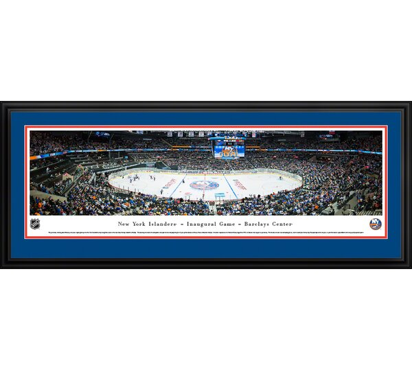 NHL New York Islanders - Center Ice by James Blakeway Framed Photographic Print by Blakeway Worldwide Panoramas, Inc