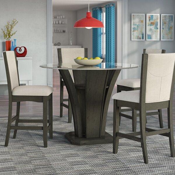 Kangas 5-Piece Round Counter Height Dining Set by Brayden Studio