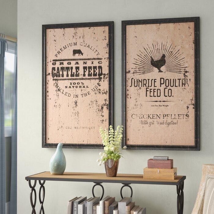 2 Piece Farmhouse Wall Decor Set