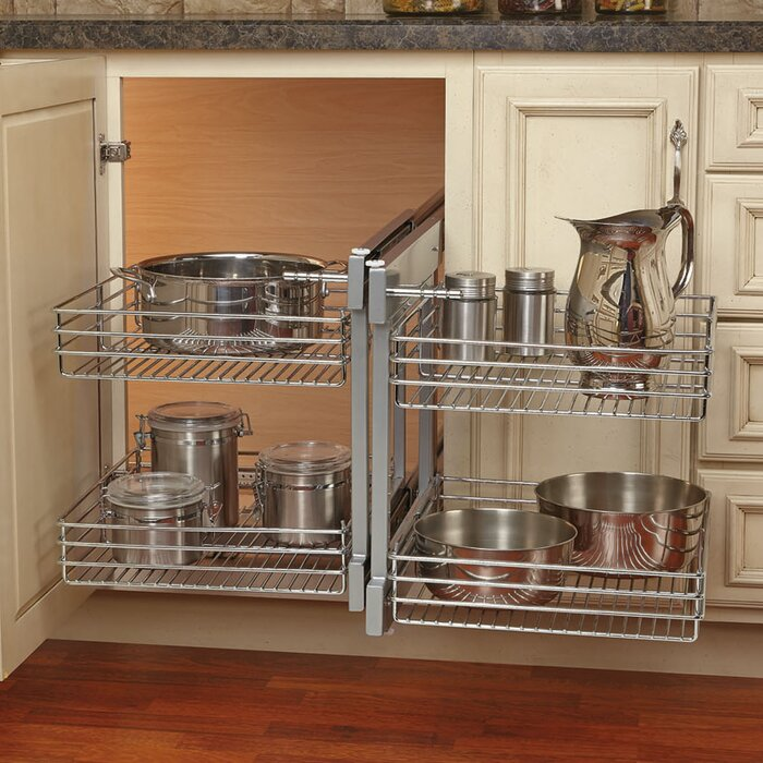 maple tier hand corner blind blinds kitchen a revashelf shelf left rev optimizer organizer organizers p right inch two