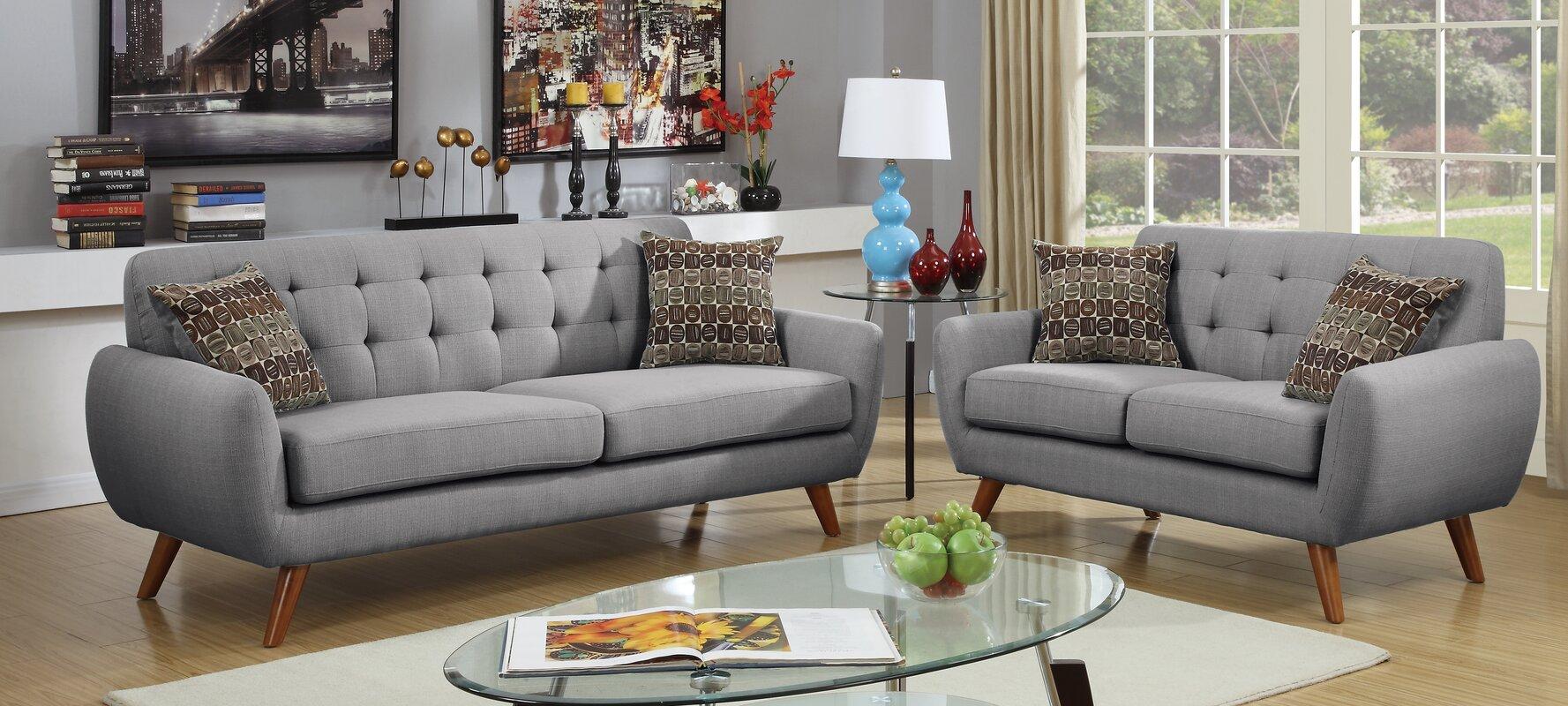 Langley Street Takeo 2 Piece Living Room Set & Reviews   Wayfair