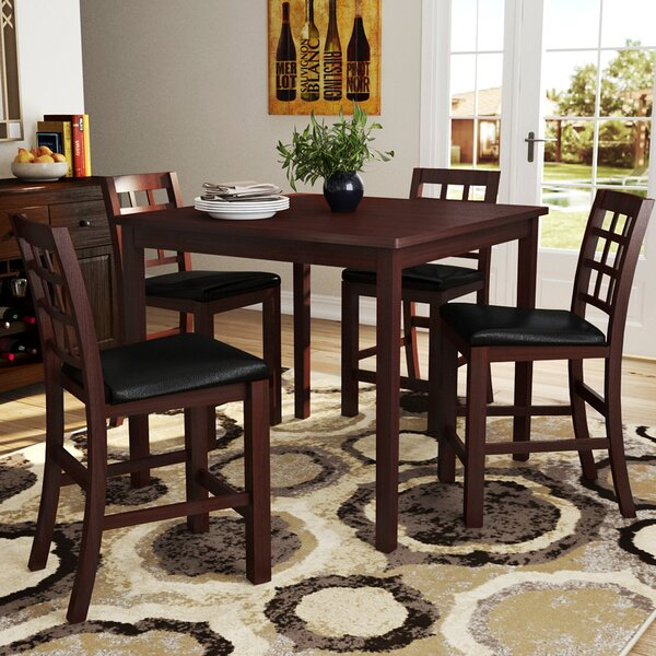 Plymouth 5 Piece Counter Height Dining Set by Red Barrel Studio