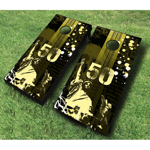 10 Piece Urban Grunge Cornhole Set by AJJ Cornhole