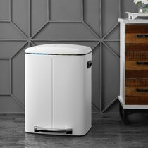 White Kitchen Trash Cans Recycling You Ll Love In 2021 Wayfair Ca