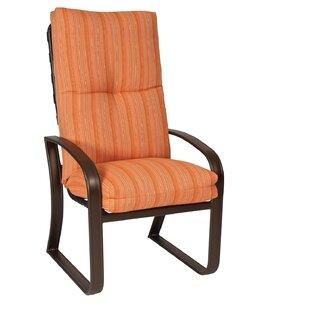 Cayman Isle High-Back Patio Dining Chair with Cushion by Woodard