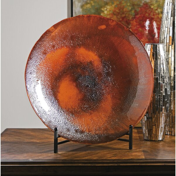 Persimmon Glass Charger with Stand by Trisha Yearw