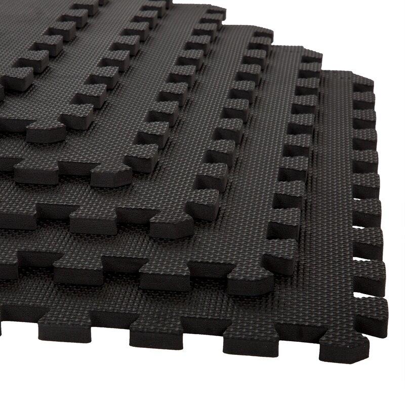 Stalwart Black Eva Foam Floor Mats Reviews Wayfair