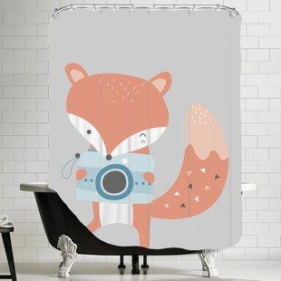 Fox Shower Curtain ByEast Urban Home