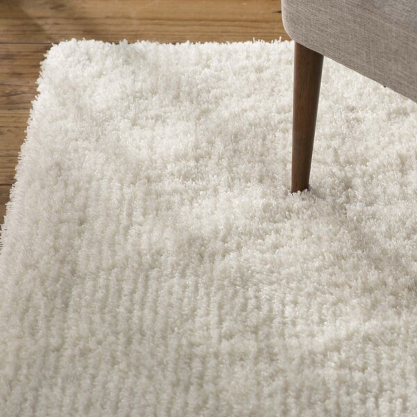 Kirtley White Shag Area Rug by Zipcode Design