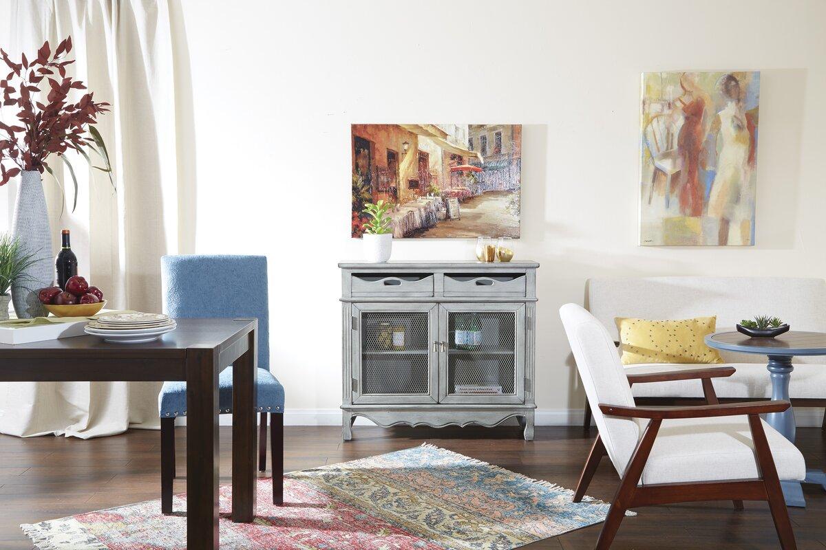 Roby Storage 2 Door Drawer Accent Cabinet