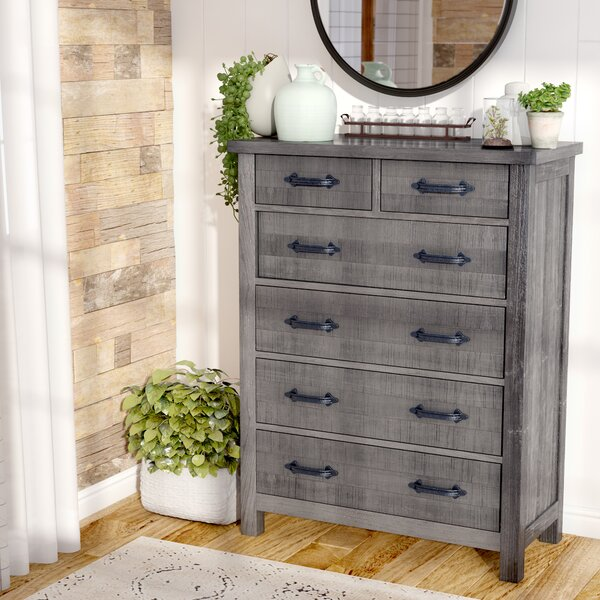 Candler 6 Drawer Chest by Three Posts