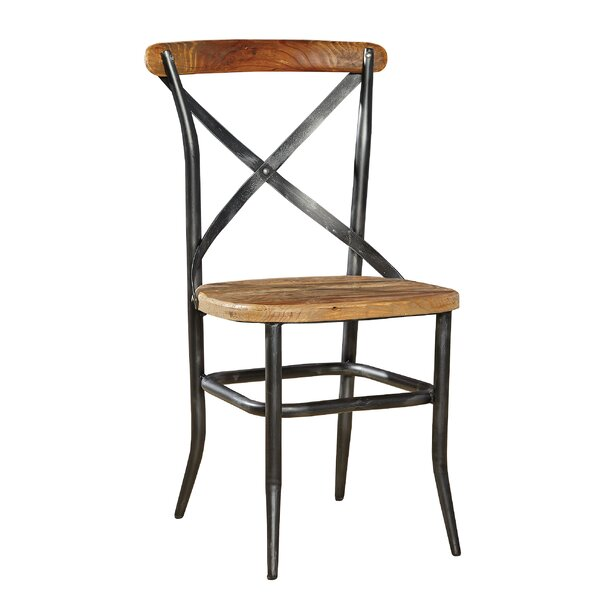 Metal and Wood Cross Patio Dining Chair by Furniture Classics
