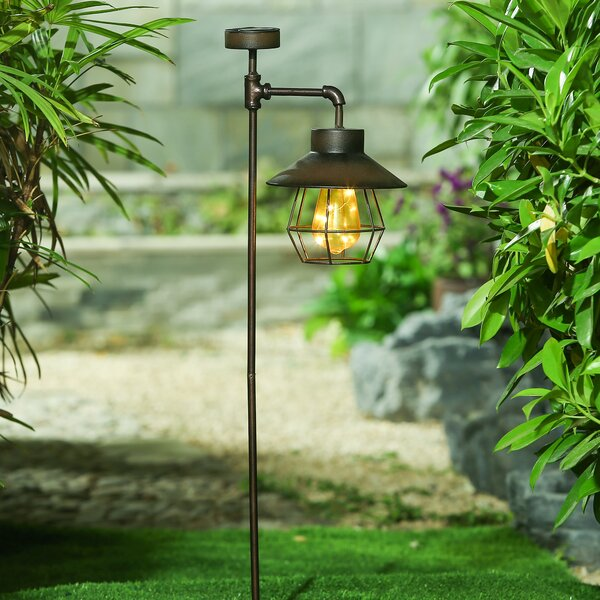 Offset Lantern Solar Garden Stake Pathway Light by Winsome House