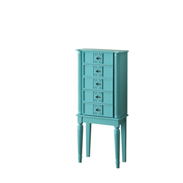 Miya Free Standing Jewelry Armoire with Mirror by House of Hampton