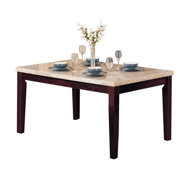 Mathieson Wooden Rectangular Dining Table by Winston Porter