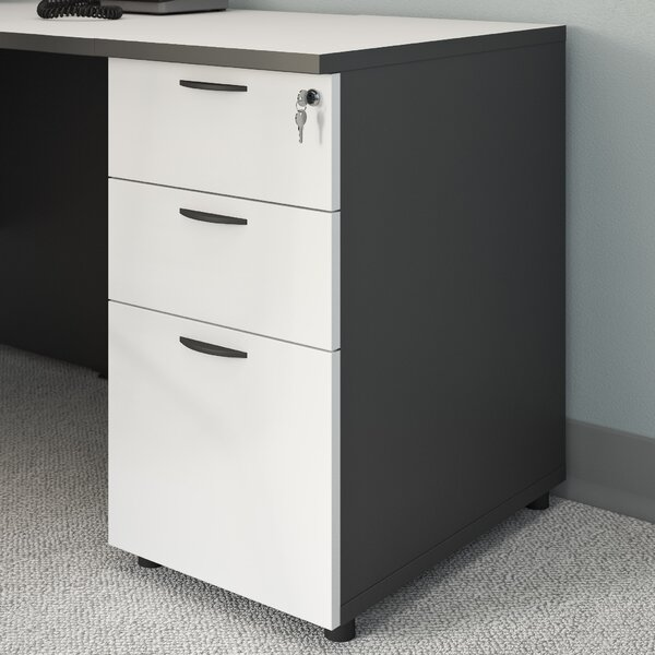 3 Drawer Desk Height Filing Cabinet by Symple Stuff