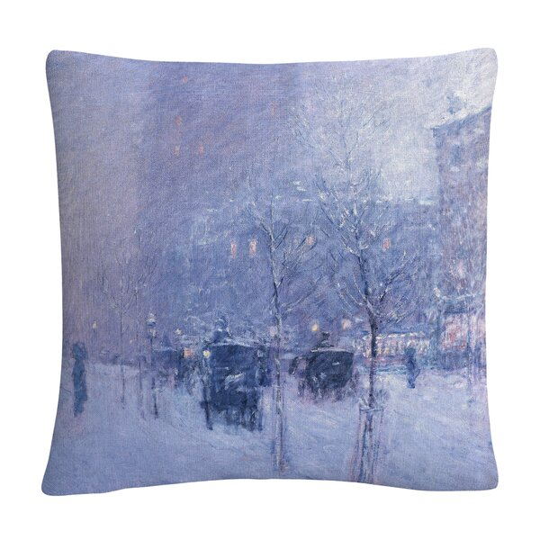 Mireille Late Afternoon New York Winter Throw Pillow by Winston Porter