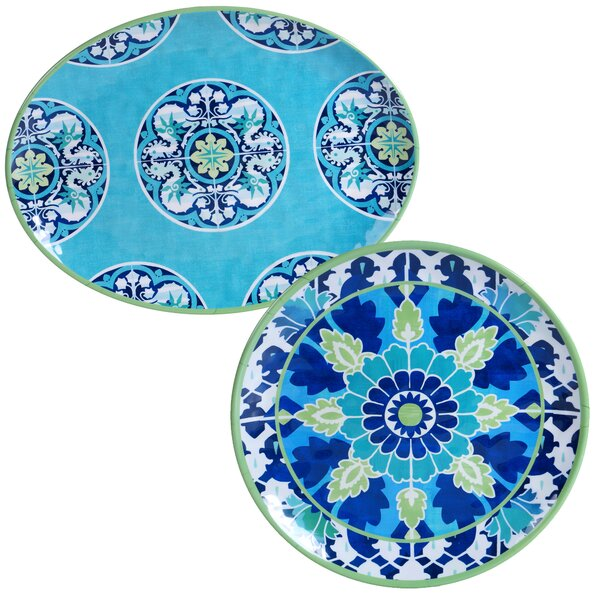 Granada Heavy Weight Melamine 2 Piece Platter Set by Certified International