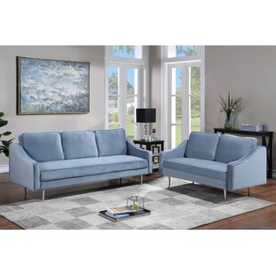 Yadira 2 Piece Velvet Living Room Set by Mercer41