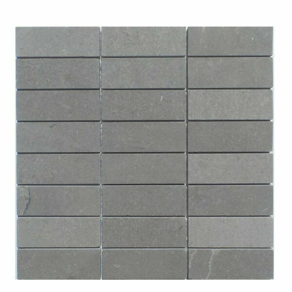 Honed 12 x 12 Basalt Mosaic Tile