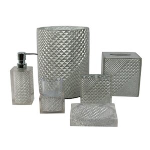 white and grey bathroom accessories. Prizm 6 Piece Bathroom Accessory Set Grey Accessories You ll Love  Wayfair