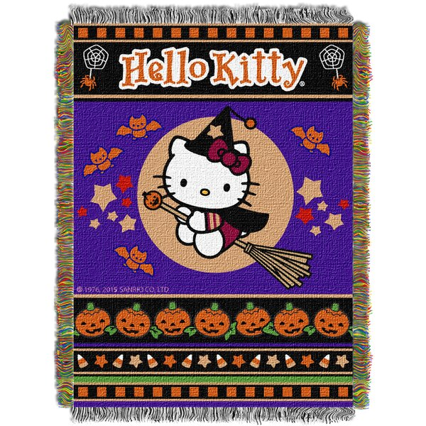 Hello Kitty Witchy Kitty Throw by Northwest Co.