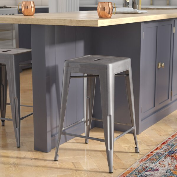 Jerome Backless Metal 24.25 Bar Stool by Trent Austin Design