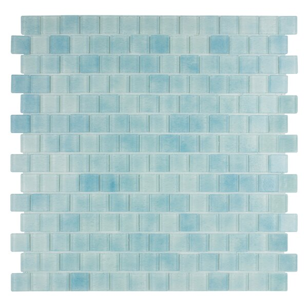 Quartz 0.75 x 0.75 Glass Mosaic Tile in Light Blue by Kellani