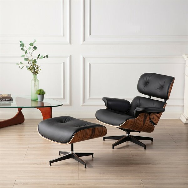 Harmony Leather Chaise Lounge By Brayden Studio