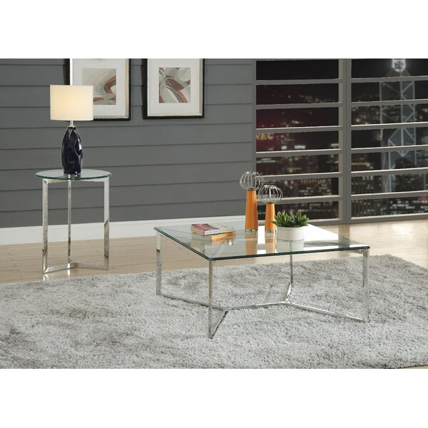 Mashburn Tempered Glass 2 Piece Coffee Table Set by Wrought Studio Wrought Studio™