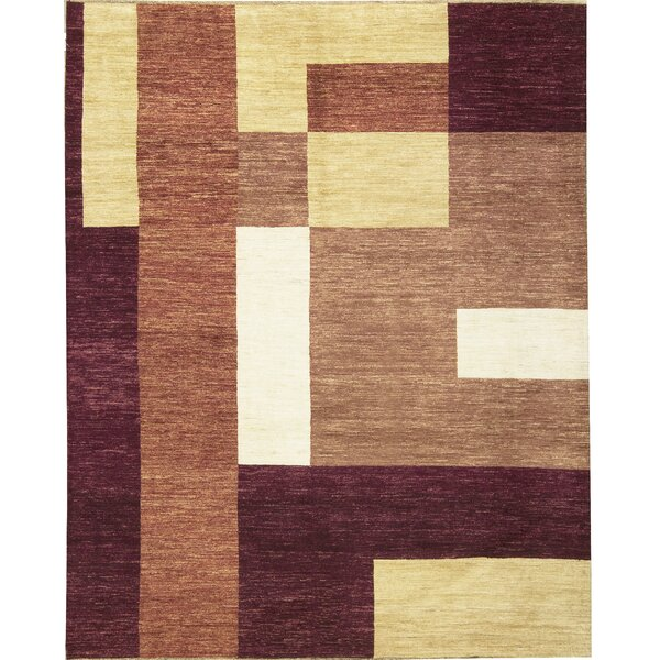 One-of-a-Kind Gabbeh Hand-Knotted Wool Purple Wine Area Rug by Bokara Rug Co., Inc.