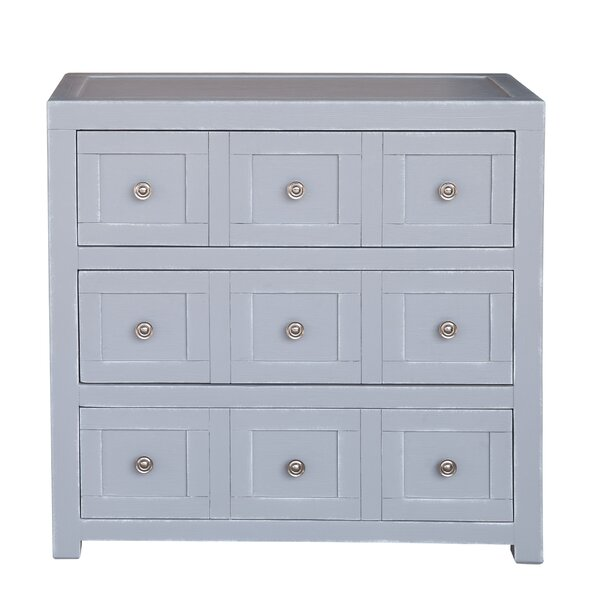 Milton Apothecary Style 3 Drawer Accent Chest by Rosecliff Heights Rosecliff Heights