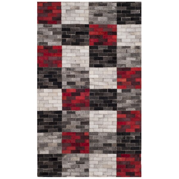 Sidd Leather Hand Tufted Gray Area Rug by Orren Ellis