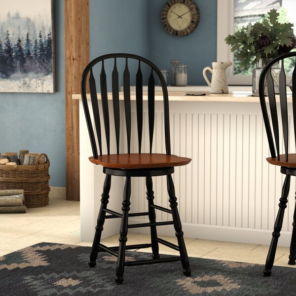Banksville 24 Swivel Bar Stool by Loon Peak