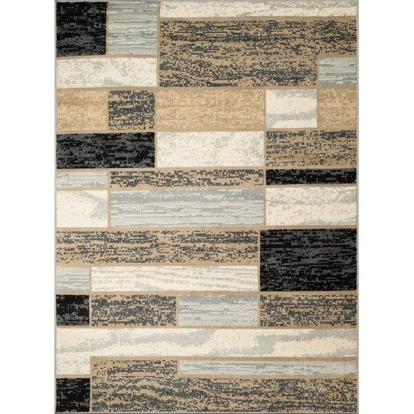 Hillside Avenue Gray/Cream Area Rug by Winston Porter