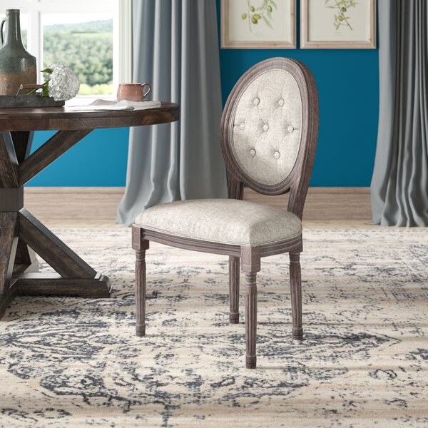 Vibbert French Upholstered Dining Chair by Ophelia & Co.