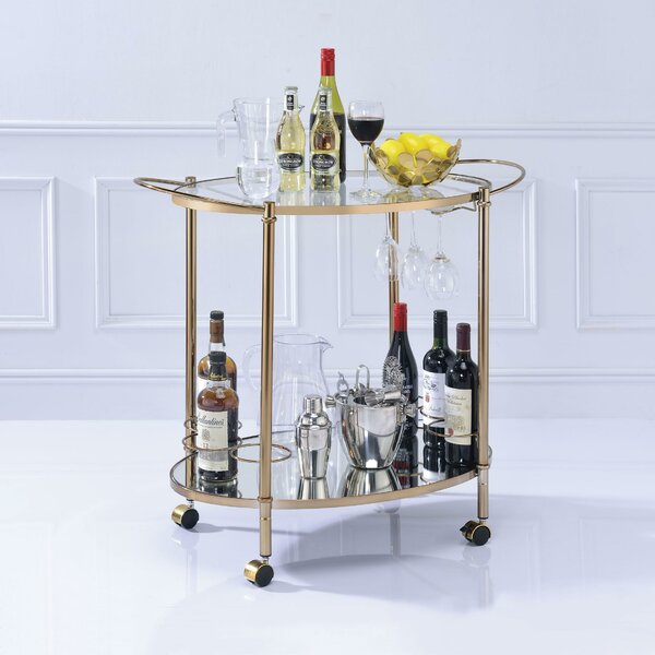 Van Metal Framed Bar Cart by Everly Quinn