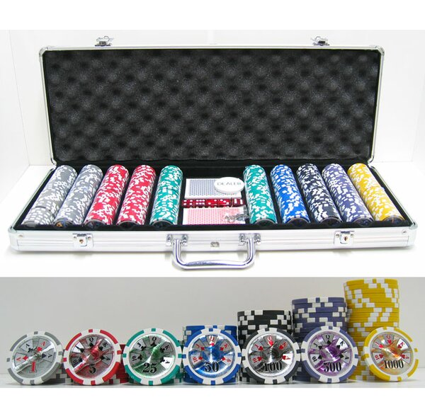 500 Piece High Roller Clay Poker Chip by JP Commerce