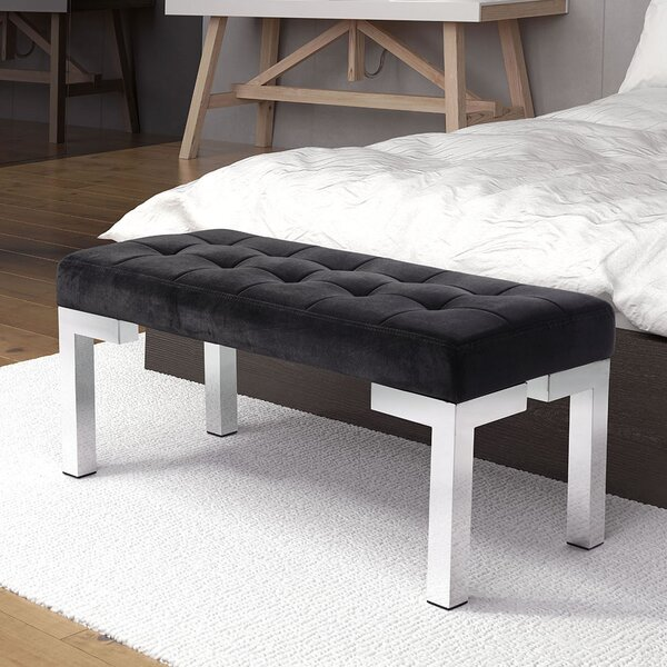 Roberdeau Upholstered Bench By Mercer41 New Design