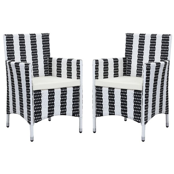 Astrid Patio Dining Chair with Cushion (Set of 2) by Longshore Tides