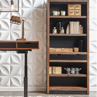 Best Deals Doyle Standard Bookcase ByUnion Rustic