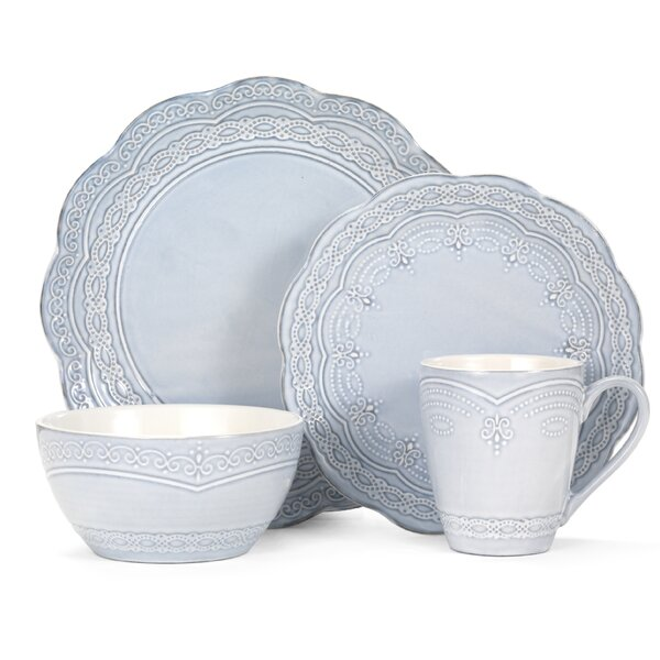 Serephina 16 Piece Dinnerware Set, Service for 4 b