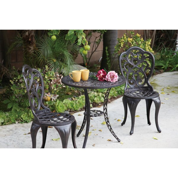 Callimont 3 Piece Bistro Set by Fleur De Lis Living